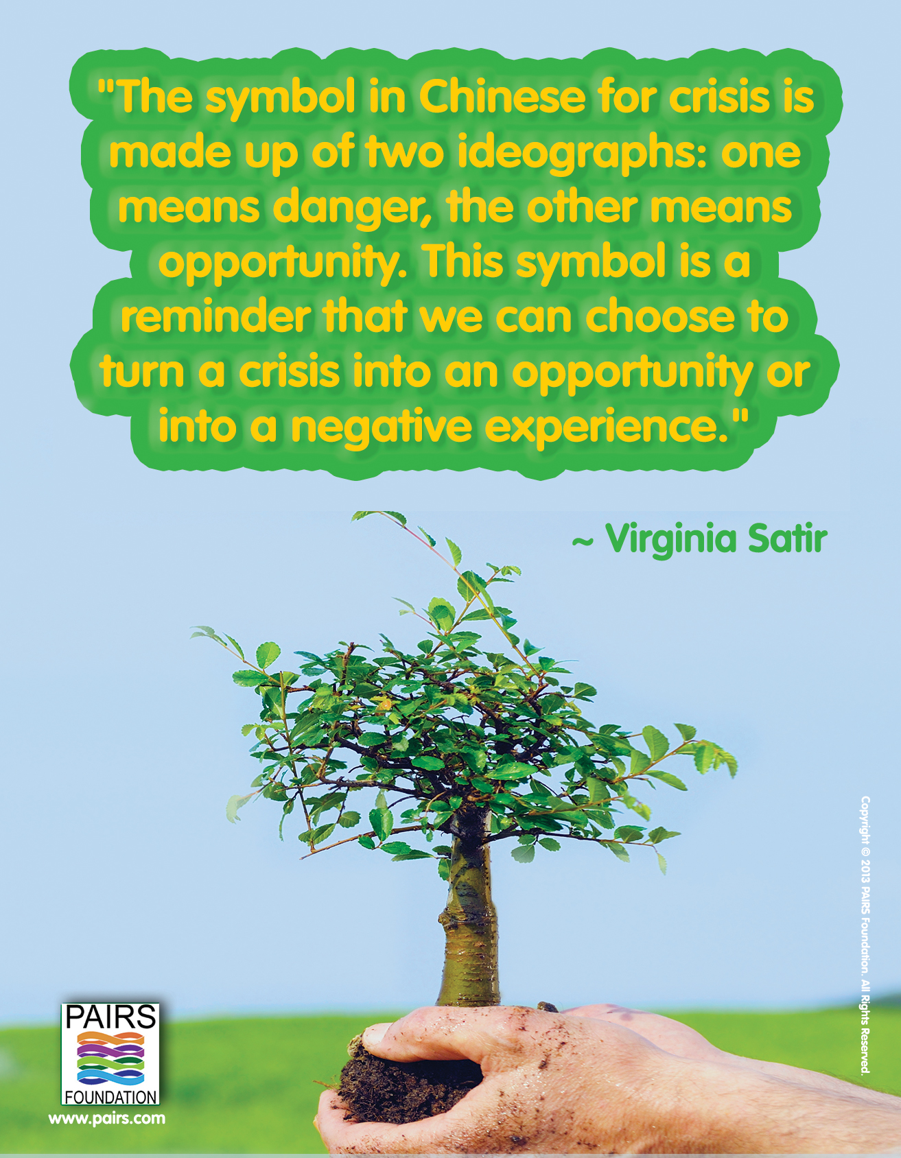Virginia Satir - Crisis or Opportunity